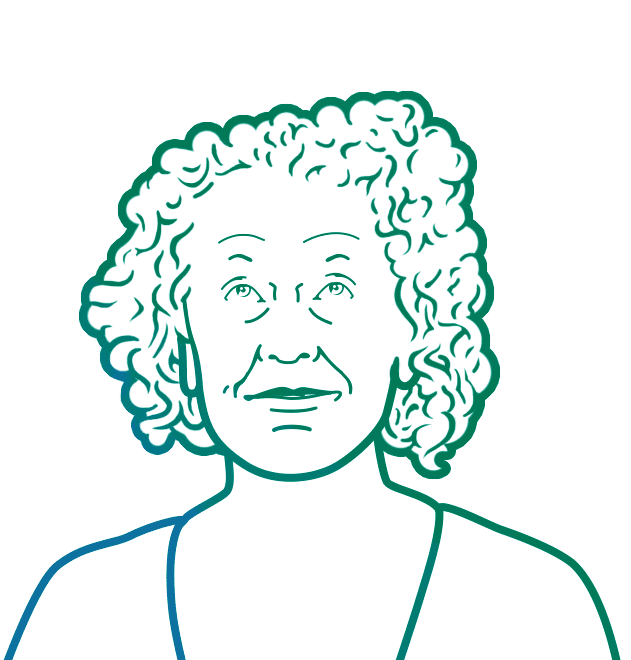 Line drawing portrait of Amber Wright